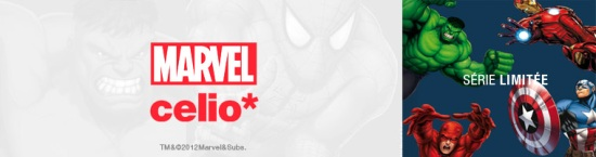T-shirts Marvel chez Celio (greek inside)