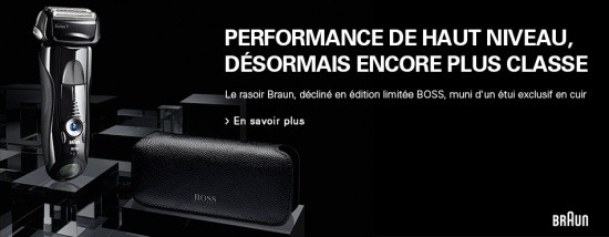 Rasoir Braun Series edition Hugo Boss