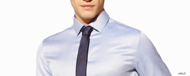 chemise-motif-discret-celio