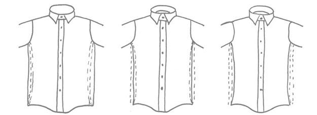 coupes de chemises homme