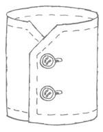 poignets de chemise standards