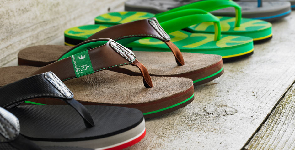 Des chaussures écolos ? Les thongs Freewaters