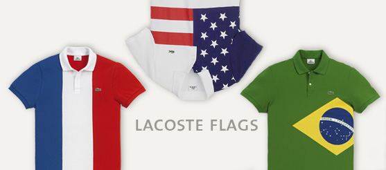 Polos Lacoste 2012 : Flags & Preppy !