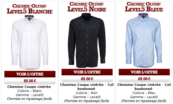 Les chemises Olymp Level Five