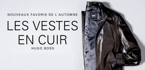 Hugo Boss : un hiver en cuir