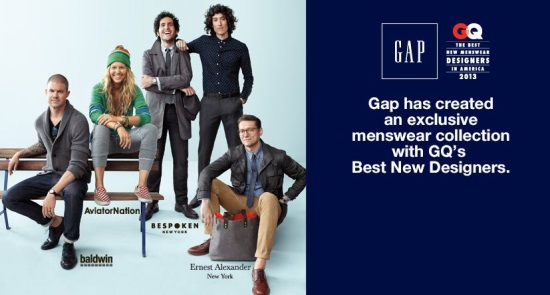 Collaboration Gap x GQ = 4 stylistes à l'honneur