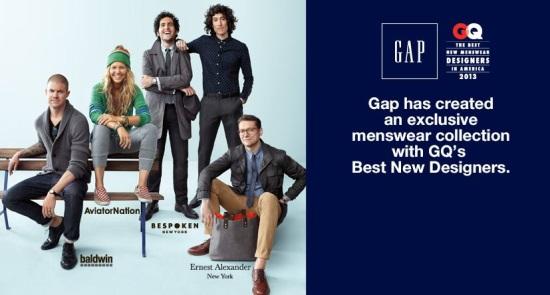 Collaboration Gap x GQ = 4 stylistes à l'honneur