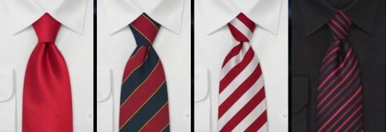 cravates rouges