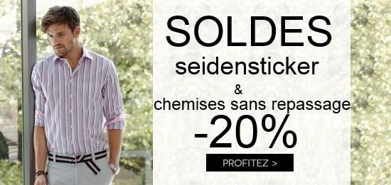 Soldes : -20% sur les chemise Seidensticker