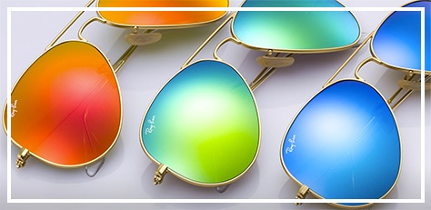 Ray-Ban-Sunglasses-Aviator-Flash-Lenses