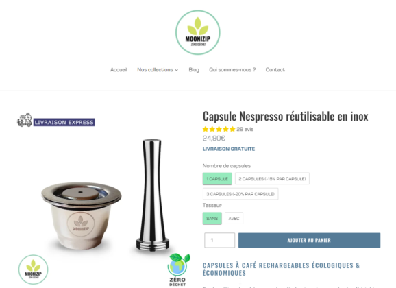 Moonizip : la capsule Nespresso rechargeable